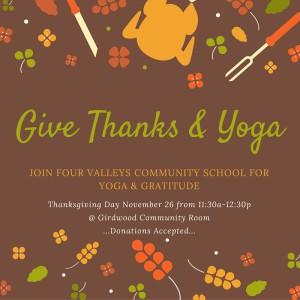 Give Thanks & YOGA 2015