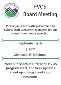 Community Meeting Annoumcement 2016 FVCS